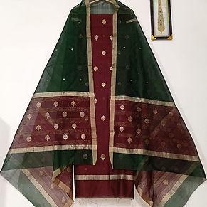 Chanderi Cotton Silk Dress Material -CSD
