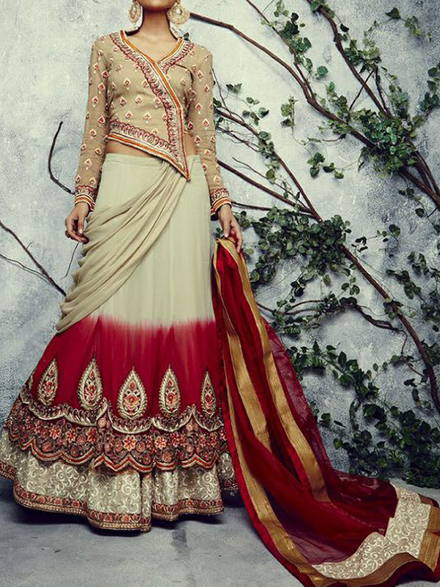 Lehenga saree with blouse