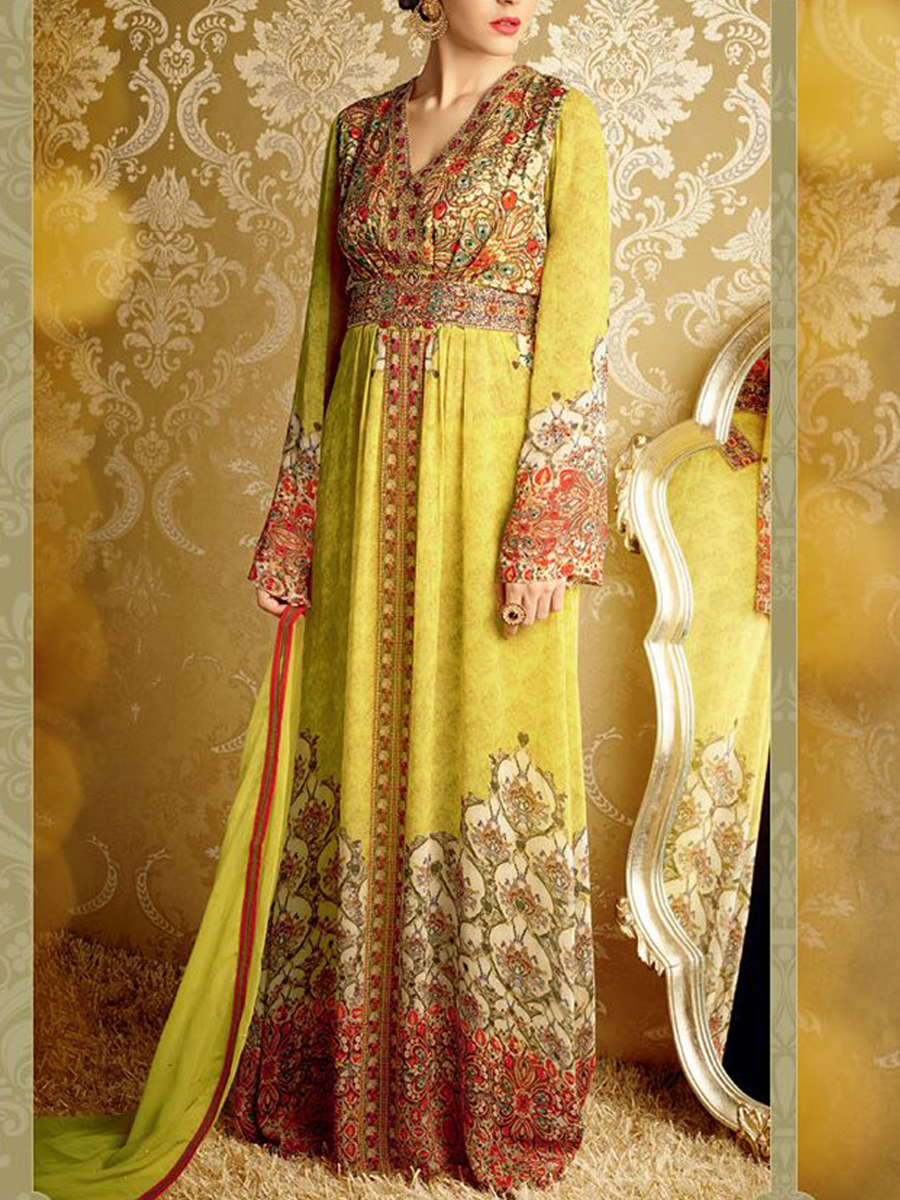 Yellow Pakistani Salwar Suit