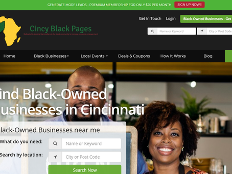 The Cincy Black Pages Directory of Black-Owned Business