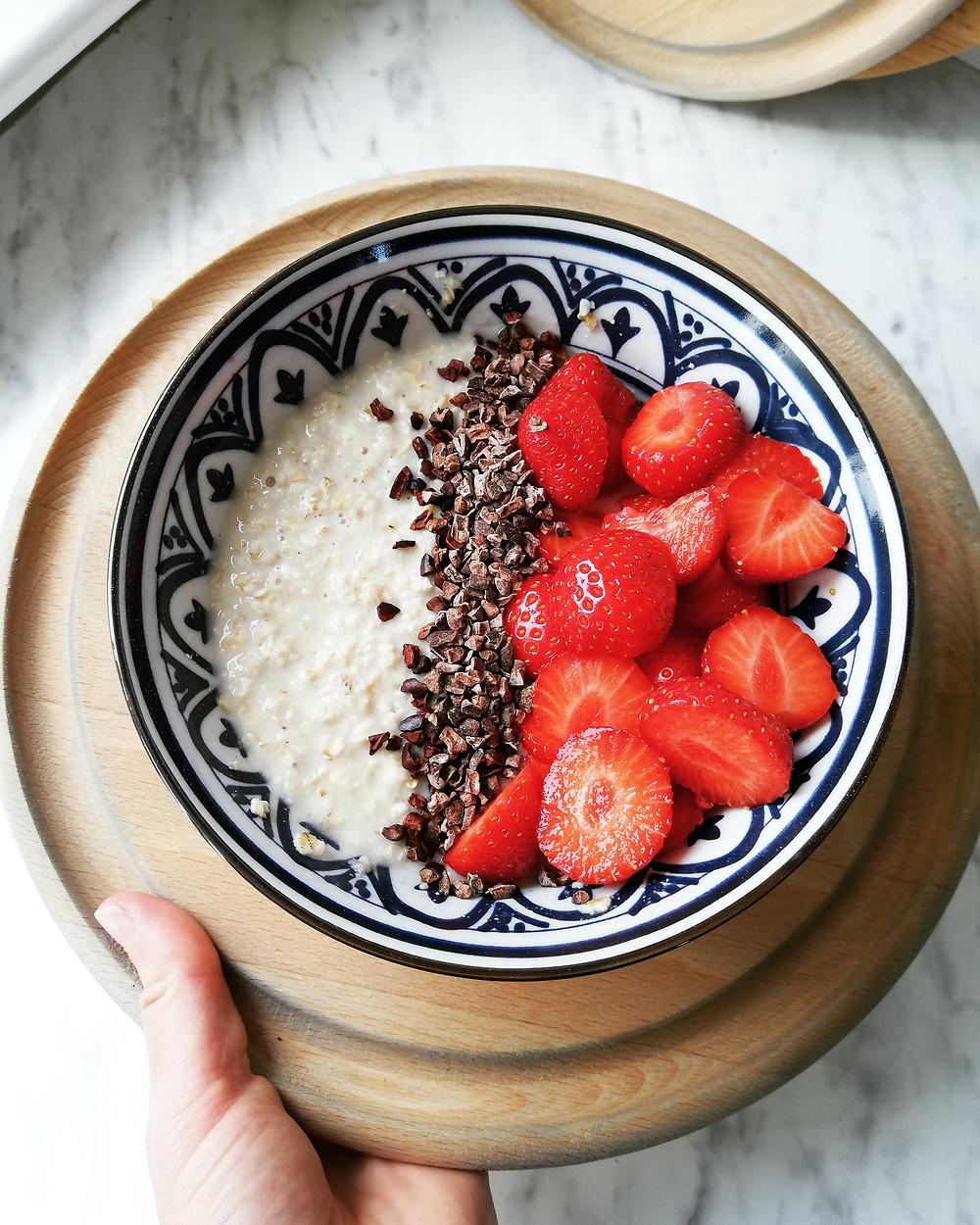 Zomerse havermout | Recept | Ontbijt | Oatmeal | Praktijk Marjon Kok