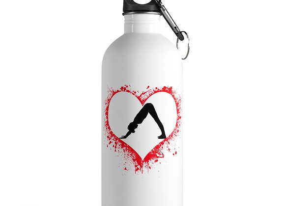 """""""YOGA LOVE"""" STAINLESS STEEL WATER BoOTTLE"""