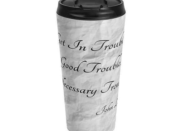 JOHN LEWIS INSPIRED GRAY STAINLESS TRAVEL MUG Mug