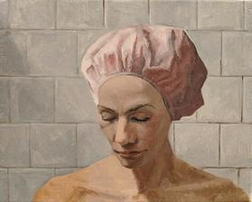 Pink Shower Cap