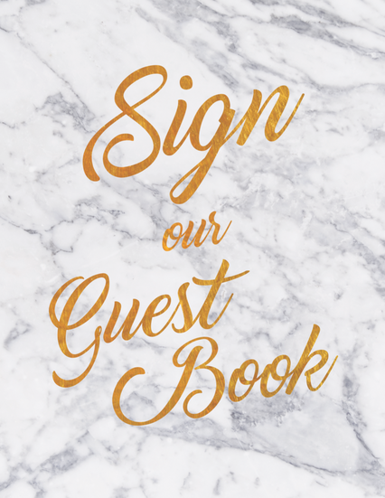Sign our Guest Book Sign Style 1