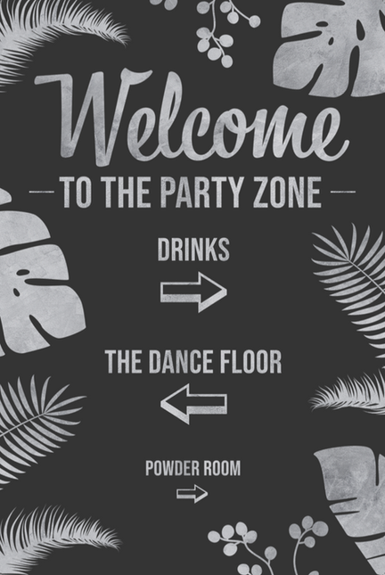 Vertical Welcome Sign Style 3