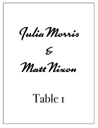 Table #s Sign Style 2