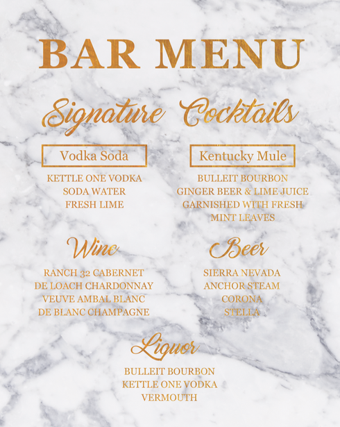Bar Menu Style 2