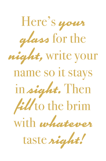 Your Glass for the Night Sign
