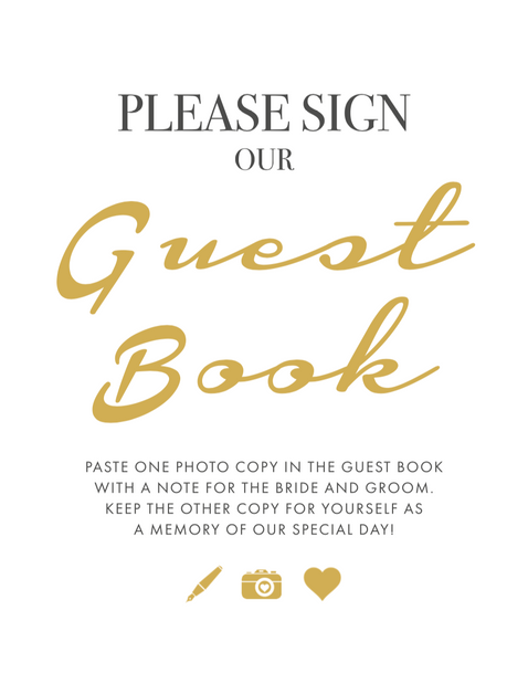 Sign our Guest Book Sign Style 2