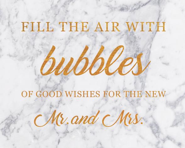 Bubbles Sign
