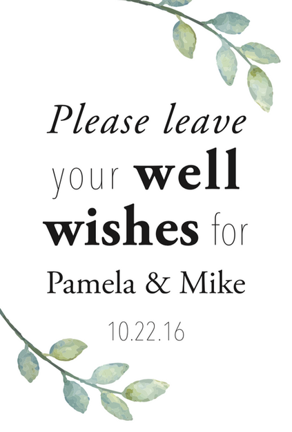Well Wishes Sign