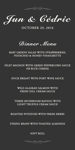 Dinner Menu Style 1