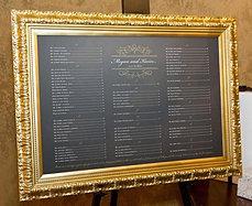 Gold Frame Wedding Sign Image 2