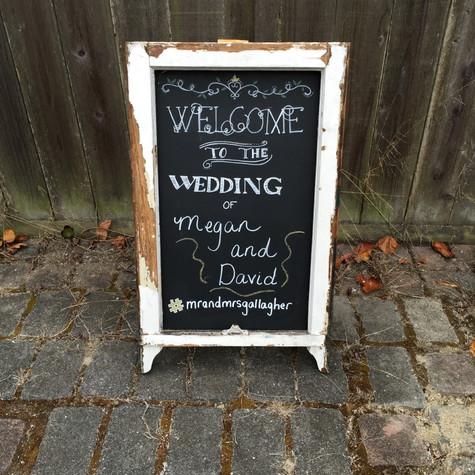 Chalkboard Wooden Sign