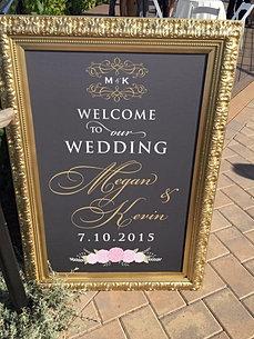 Gold Frame Wedding Sign