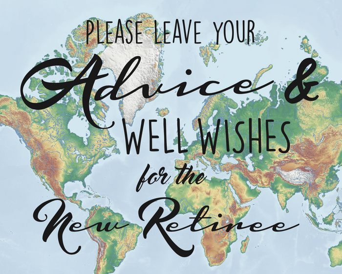 Advice & Well Wishes Sign