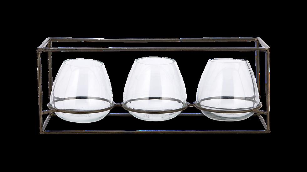 Glass T-Light Set
