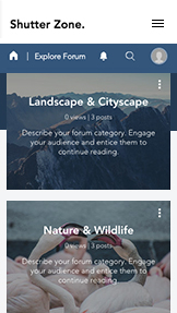 Reise og dokumentar website templates – Fotograferingsforum