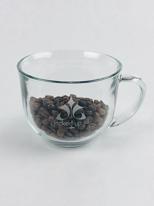 Glass Mug - Etched Logo