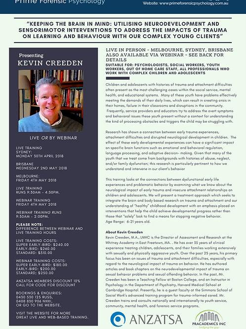 Kevin Creeden Webinar: Keeping The Brain In Mind