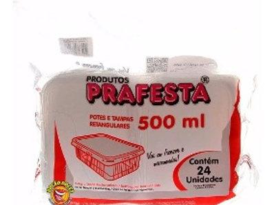 EMBALAGEM FREEZER/MICRO-ONDAS 500ML PRAFESTA