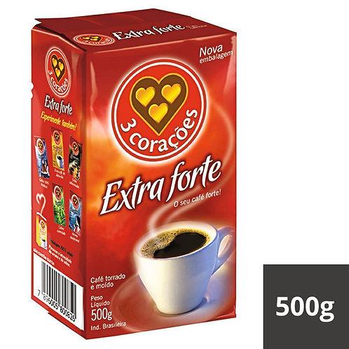 CAFE EM PÓ 3 CORAÇÕES A VÁCUO