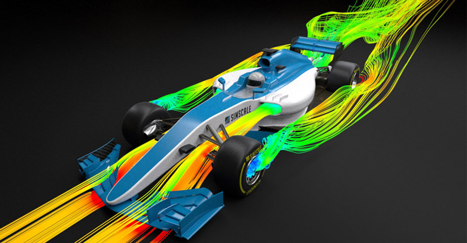 Front Wing Fluid Simulation