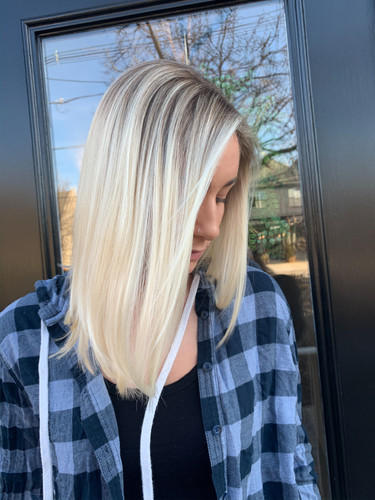 Rooted Bright Blonde by Jamie