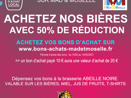 NOS BIÈRES à -50% !