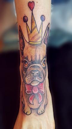 Chien tattoo