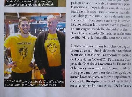 """Parution dans le magazine """"Bière Magazine"""""""