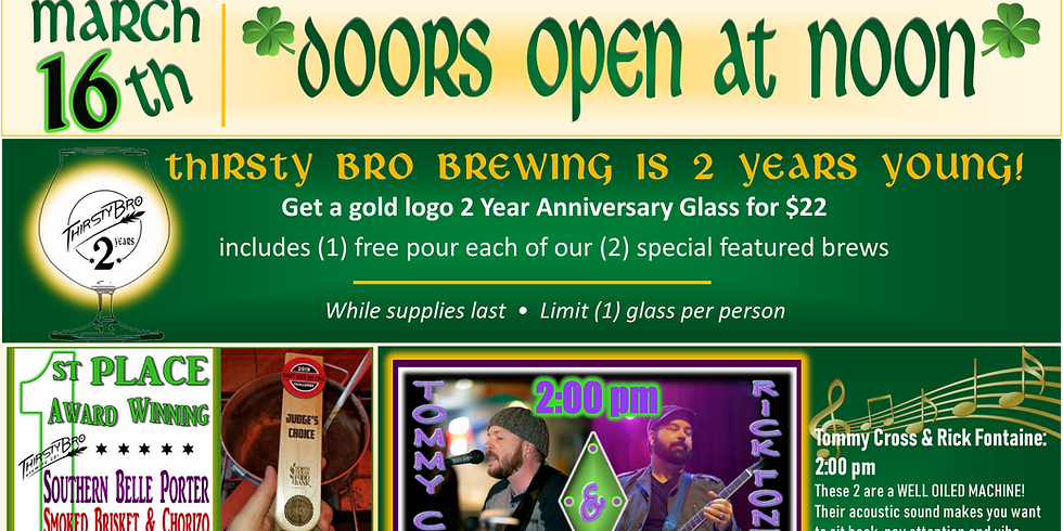 St. Paddy's Day & 2 Year Anniversary Celebration Glass Release!