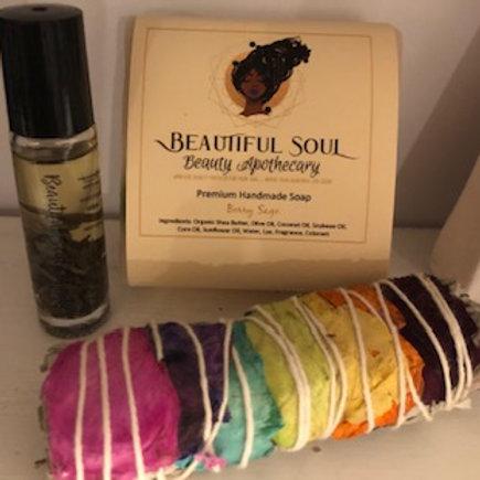 Berry Sage Soap + Massage Oil Bundle Kit
