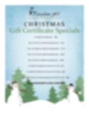 Christmas list of gift cert ONLINE. 2018