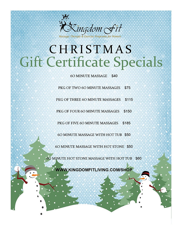 Christmas list of gift cert ONLINE. 2018