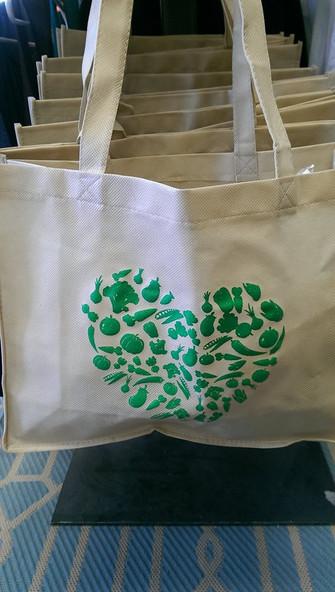 Veggie Heart Tote Bag