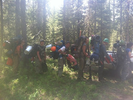 Headed to base camp