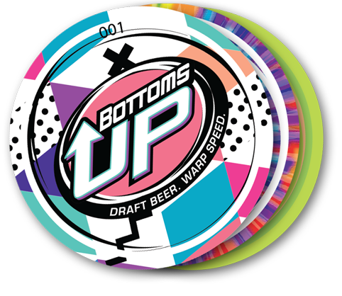 Bottoms Up Logo Set 1-10 Wrapped Magnet