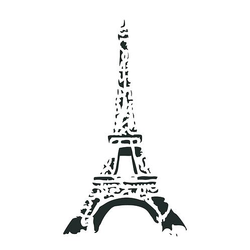 """Eiffel Tower 8"""" x 13"""""""