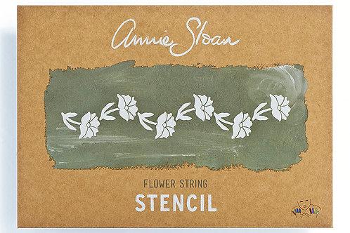 Flower String Stencil