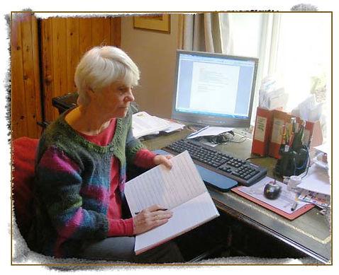 Berlie Doherty at work