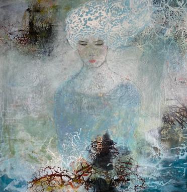 Transparent Blueness - 80x80 cm