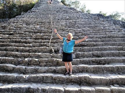Nohoch Mul pyramid in Coba Maya ruins