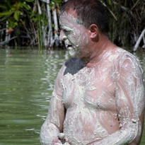 mud bath in Kaan Luum Lagoon