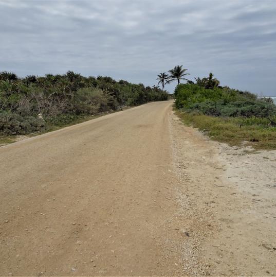 road through the Sian kaan biosphere