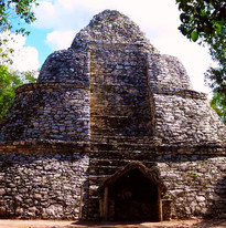 watch tower at Coba