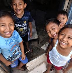 Maya kids in Yucatan pueblo
