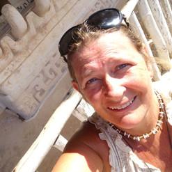Laura LaBrie in the ruins of Ek Balam