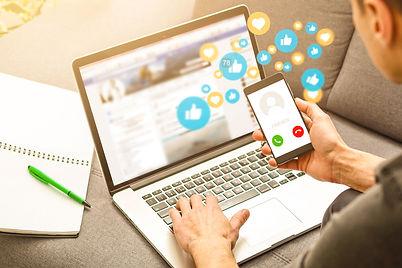using smart phone,Social media concept.j